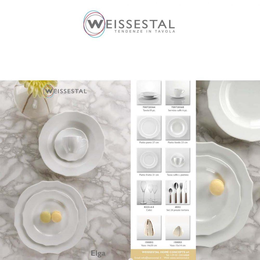 Elga - Porcellana bianca - WEISSESTAL